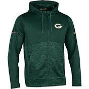 Under Armour NFL Combine Authentic Men's Green Bay Packers Armour Fleece Green Full-Zip Hoodie