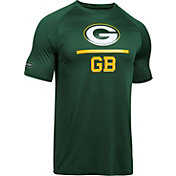 Under Armour NFL Combine Authentic Men's Green Bay Packers Lockup Logo Tech Green T-Shirt