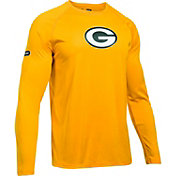 Under Armour NFL Combine Authentic Men's Green Bay Packers Logo Gold Tech Long Sleeve Shirt