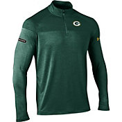 Under Armour NFL Combine Authentic Men's Green Bay Packers Tech Novelty Green Quarter-Zip Pullover