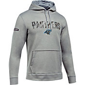 Under Armour NFL Combine Authentic Men's Carolina Panthers Armour Fleece Grey Hoodie