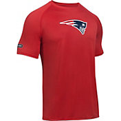 Under Armour NFL Combine Authentic Men's New England Patriots Logo Red Tech Performance T-Shirt