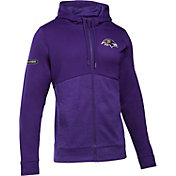 Under Armour NFL Combine Authentic Men's Baltimore Ravens Armour Fleece Purple Full-Zip Hoodie