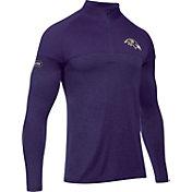 Under Armour NFL Combine Authentic Men's Baltimore Ravens Tech Novelty Purple Quarter-Zip Pullover