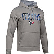 Under Armour NFL Combine Authentic Men's Houston Texans Armour Fleece Grey Hoodie