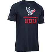 Under Armour NFL Combine Authentic Men's Houston Texans Lockup Logo Tech Navy T-Shirt