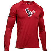 Under Armour NFL Combine Authentic Men's Houston Texans Logo Red Tech Long Sleeve Shirt