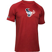 Under Armour NFL Combine Authentic Men's Houston Texans Logo Red Tech Performance T-Shirt