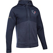 Under Armour NFL Combine Authentic Men's Houston Texans Armour Fleece Navy Full-Zip Hoodie