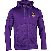 Under Armour NFL Combine Authentic Men's Minnesota Vikings Armour Fleece Purple Full-Zip Hoodie