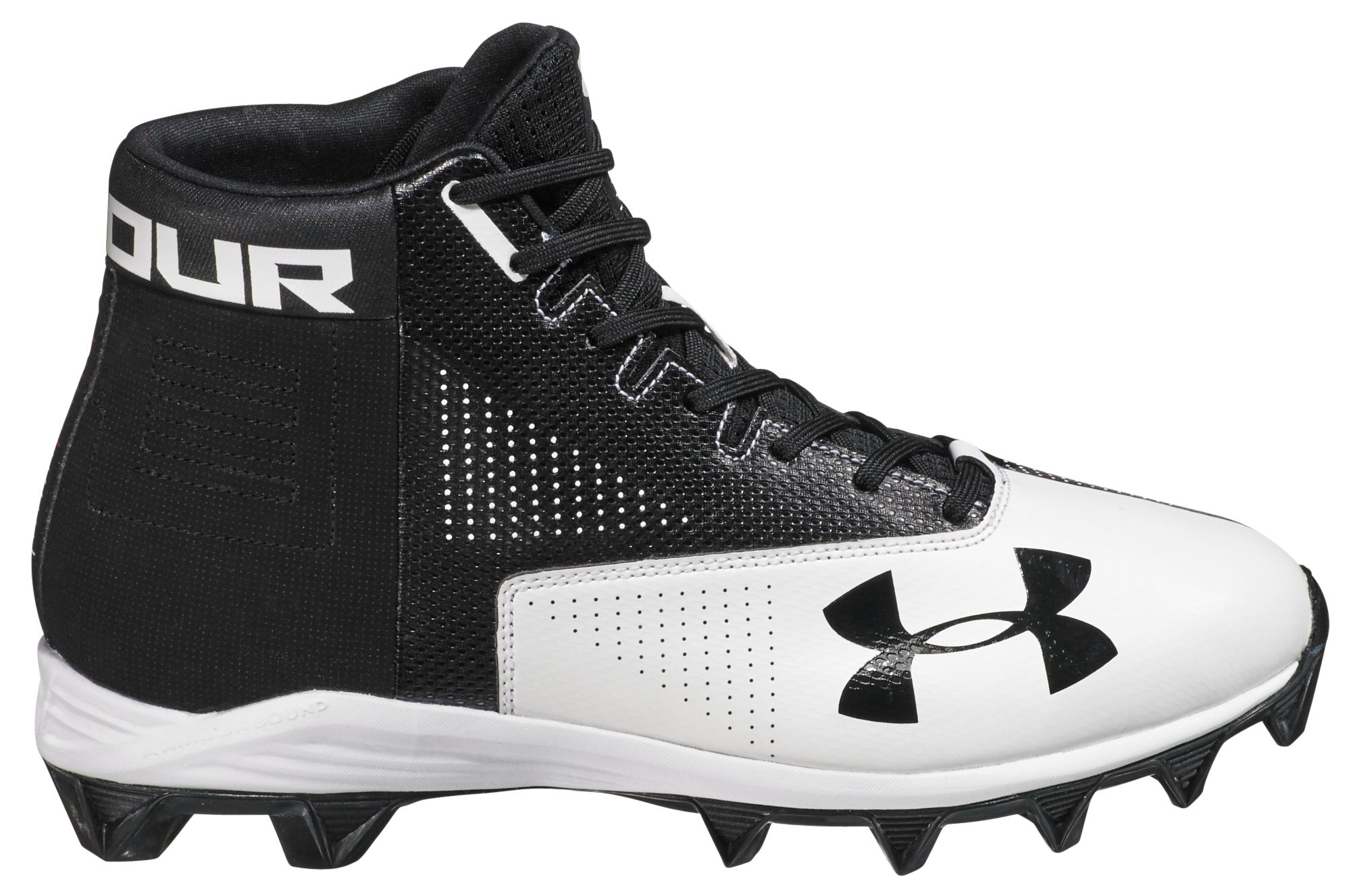 Product Image � Under Armour Men\u0027s Renegade Mid RM Football Cleats. Black/ White