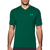 Under Armour Men's Threadborne Siro Striped V-Neck T-Shirt