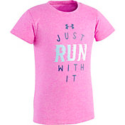 Under Armour Toddler Girls' Just Run With It T-Shirt