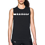 Under Armour Women's Branded Stripe Graphic Muscle Tank Top