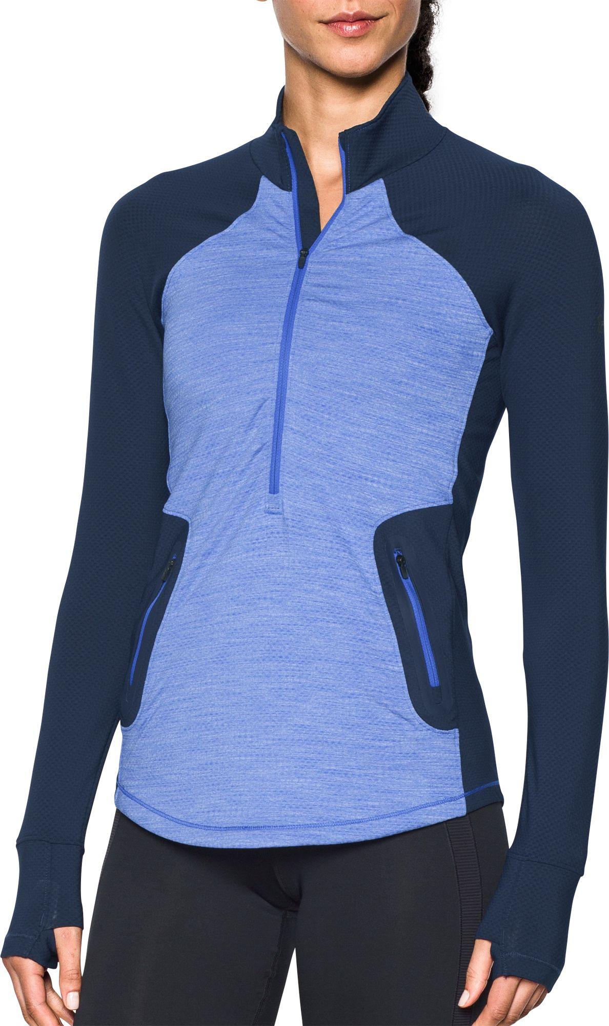 under armour quarter zip womens. under armour women\u0027s coldgear reactor 1/2 zip long sleeve t-shirt quarter womens