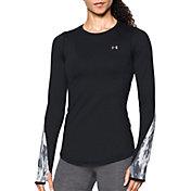 Under Armour Women's ColdGear Armour Graphic Crew Long Sleeve T-Shirt
