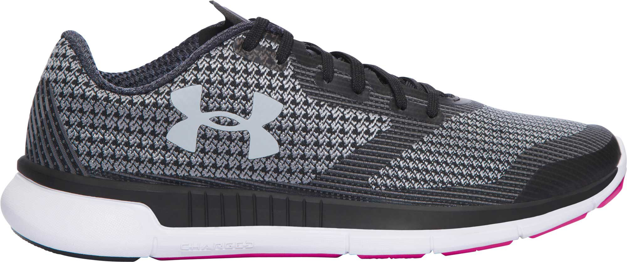 under armour running shoes black and white. under armour women\u0027s charged lightning running shoes black and white