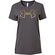 Under Armour Women's Foil Outline Big Logo Graphic T-Shirt