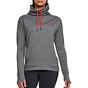 Under Armour Women's Featherweight Fleece Mesh Funnel Neck Sweatshirt