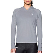 Under Armour Women's Charged Cotton Tri-Blend Hooded Long Sleeve Shirt