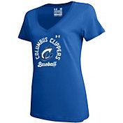 Under Armour Women's Columbus Clippers Royal Tech Performance T-Shirt