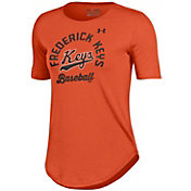 Under Armour Women's Frederick Keys Orange Tech Performance T-Shirt