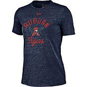 Under Armour Women's Auburn Tigers Blue Crew Tri-Blend T-Shirt