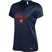 Under Armour Women's Auburn Tigers Blue Tech V-Neck Performance T-Shirt