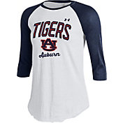 Under Armour Women's Auburn Tigers Blue/White Baseball Tee