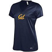 Under Armour Women's Cal Golden Bears Blue V-Neck Performance T-Shirt