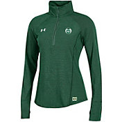 Under Armour Women's Colorado State Rams Green Microthread Quarter-Zip Shirt
