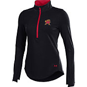 Under Armour Women's Maryland Terrapins Black Charged Cotton Half-Zip Shirt