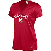 Under Armour Women's Maryland Terrapins 'Maryland Pride' V-Neck Performance Red T-Shirt