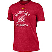 Under Armour Women's Maryland Terrapins Red Crew Tri-Blend T-Shirt