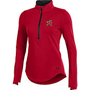Under Armour Women's Maryland Terrapins Red Charged Cotton Half-Zip Shirt