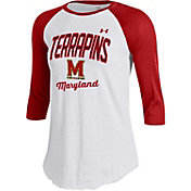 Under Armour Women's Maryland Terrapins Red/White Baseball Tee