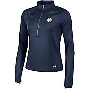 Under Armour Women's Notre Dame Fighting Irish Navy Terry Back Half-Zip Shirt