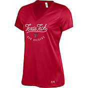 Under Armour Women's Texas Tech Red Raiders Red Tech V-Neck Performance T-Shirt