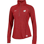 Under Armour Women's Wisconsin Badgers Red Microthread Quarter-Zip Shirt