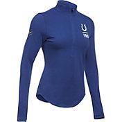 Under Armour NFL Combine Authentic Women's Indianapolis Colts Favorites Half-Zip Blue Pullover