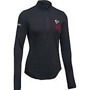 Under Armour NFL Combine Authentic Women's Atlanta Falcons Favorites Half-Zip Black Pullover
