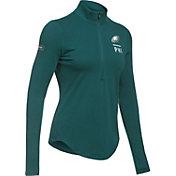Under Armour NFL Combine Authentic Women's Philadelphia Eagles Favorites Half-Zip Green Pullover
