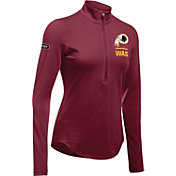 Under Armour NFL Combine Authentic Women's Washington Redskins Favorites Half-Zip Red Pullover
