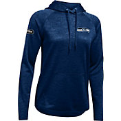 Under Armour NFL Combine Authentic Women's Seattle Seahawks Tunnel Twist Navy Hoodie