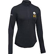 Under Armour NFL Combine Authentic Women's Pittsburgh Steelers Favorites Half-Zip Black Pullover
