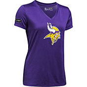 Under Armour NFL Combine Authentic Women's Minnesota Vikings Logo Black Tech Performance T-Shirt
