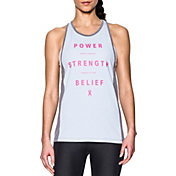 Under Armour Women's Power In Pink Inset Tank Top