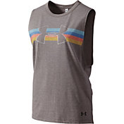 Under Armour Women's Retro Stripe Muscle Tank Top