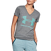 Under Armour Women's Threadborne Siro Train Graphic Twist V-Neck T-Shirt