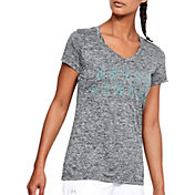 Under Armour Women's Tech Graphic Twist V-Neck T-Shirt